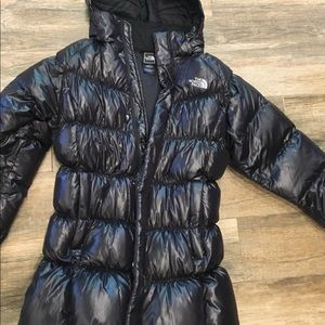 North Face Puffer Jacket W/Hood Black youth XL